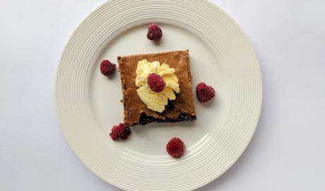 brownies, mus od sira i malina, kolač, slatko, čokolada, kockice života, kockice zivota