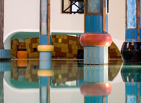 Rogner Bad Blumau hotel i spa, Friedrich Hundertwasser, arhitektura, arhitekta, umetnik, slikar, slikarstvo, Austrija, moderna arhitektura, kockice života, kockice zivota