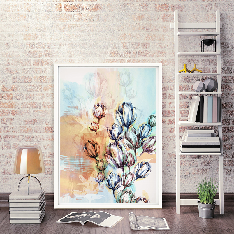 slike kao dekoracija, enterijer sa slikama, kockice zivota, kockice života