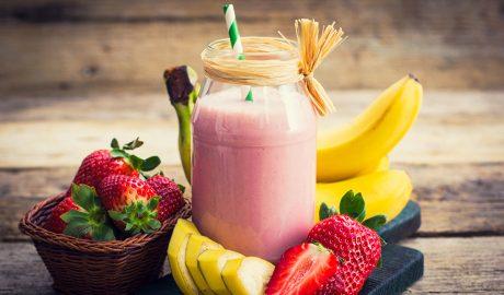 Banana, jagoda, smoothie, smuti, kockice zivota, kockice života