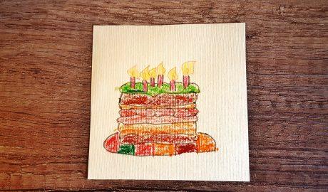 DIY pozivnice, dečiji rođendan, kockice zivota, kockice života