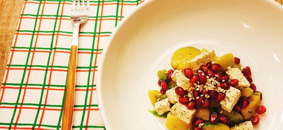 Prokelj, zdravi recepti, salata, vege, kockice zivota, kockice života