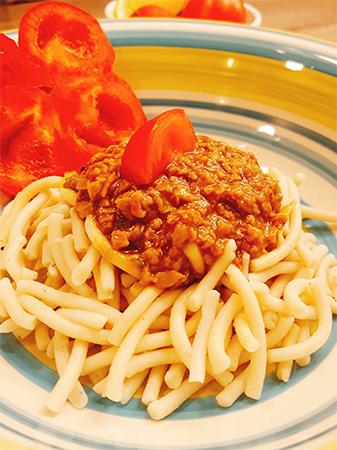 Špagete od prosa sa sojinim ljuspicama vege špagete proso soja