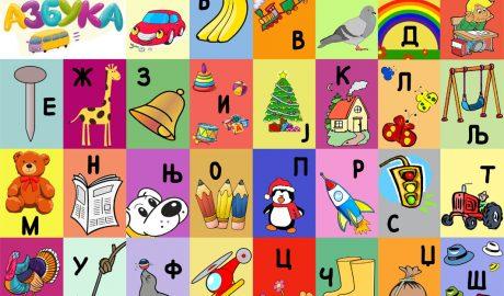 Azbuka, Kreativna azbuka, naučiti slova, plakat azbuke