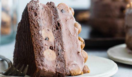 torta sa lešnicima, kolač, desert, kolač, čokolada, lešnici, slatkiši