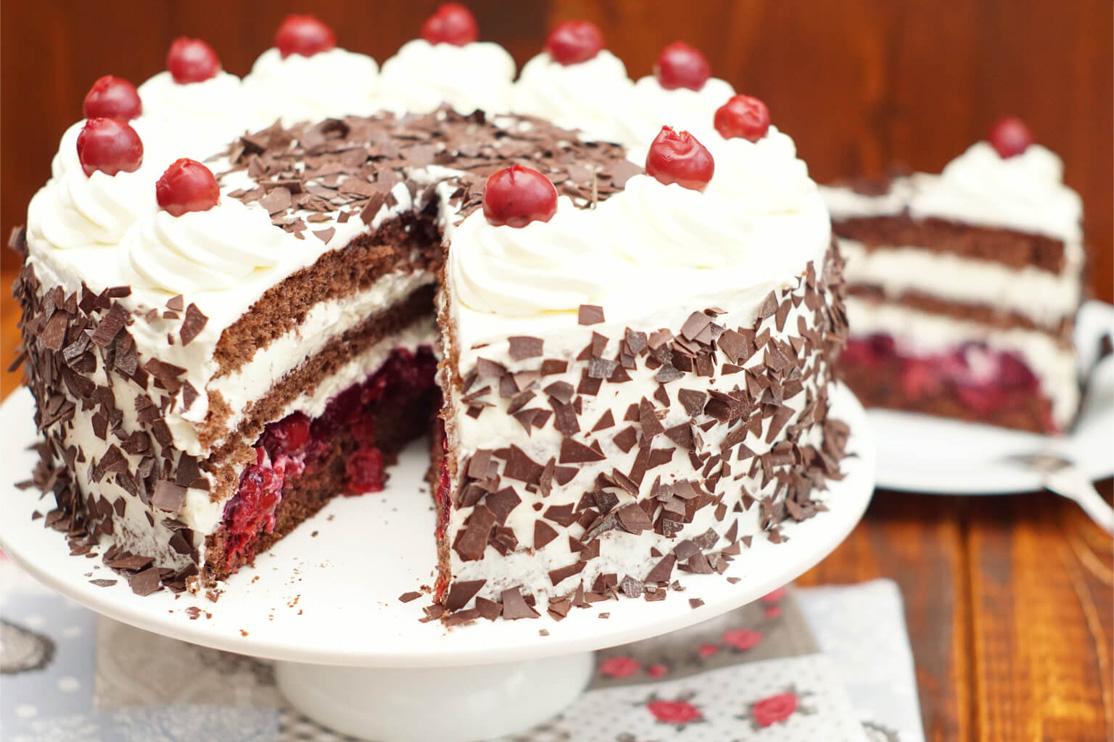 Švarcvald torta, desert, torta, čokolada, višnje, Schwarzwalder Kirschtorte
