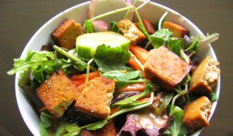 salata sa tofuom, ovas, vege, vegan, kockice zivota, kockice života