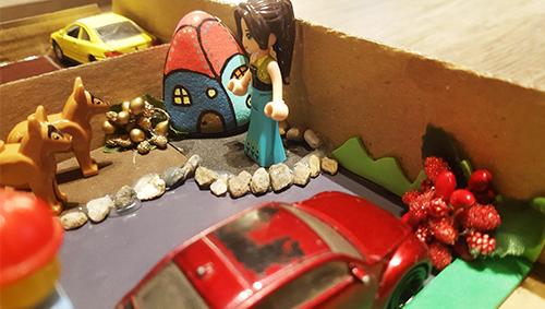 DIY, deca, kartonska kutija, mama, Magic World, kockice zivota, kockice života
