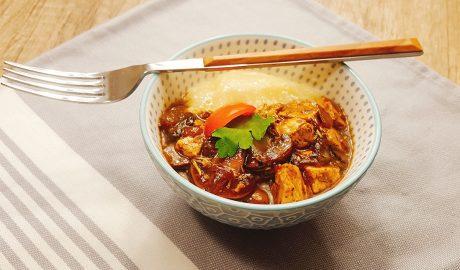 zdravlje u tanjiru šampinjoni tofu vege